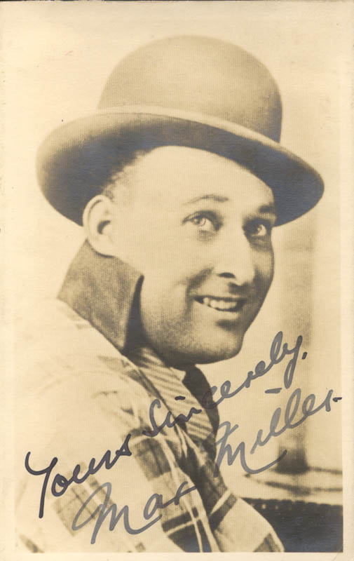Image 1 for Max (Thomas Henry Sargent) Miller - Autographed Signed Photograph - HFSID 145328