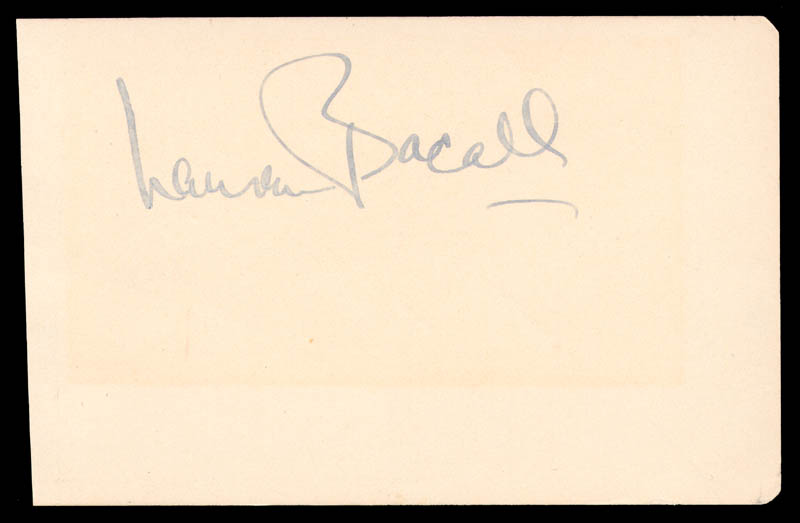 Image 1 for Lauren Bacall - Autograph co-signed by: Red Skelton - HFSID 145387