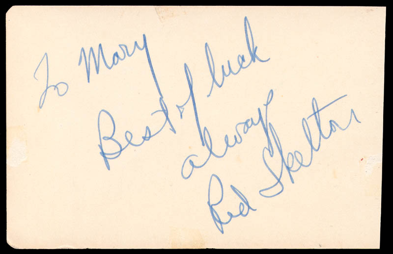 Image 3 for Lauren Bacall - Autograph co-signed by: Red Skelton - HFSID 145387