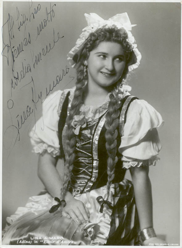 Image 1 for Lina Aymaro - Autographed Inscribed Photograph - HFSID 145420