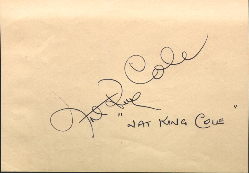 Image 1 for Nat King Cole - Autograph co-signed by: Kirk Douglas - HFSID 145567