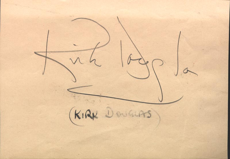 Image 3 for Nat King Cole - Autograph co-signed by: Kirk Douglas - HFSID 145567