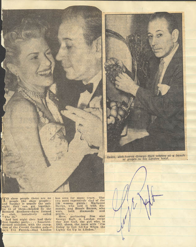 Image 1 for George Raft - Autograph - HFSID 145589