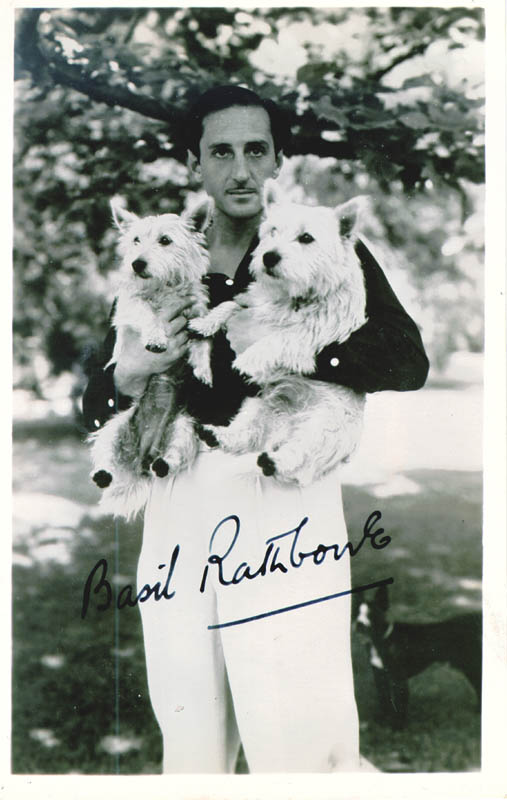 Image 1 for Basil Rathbone - Autographed Signed Photograph - HFSID 145606