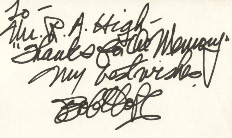 Image 1 for Bob Hope - Autograph Note Signed - HFSID 146196