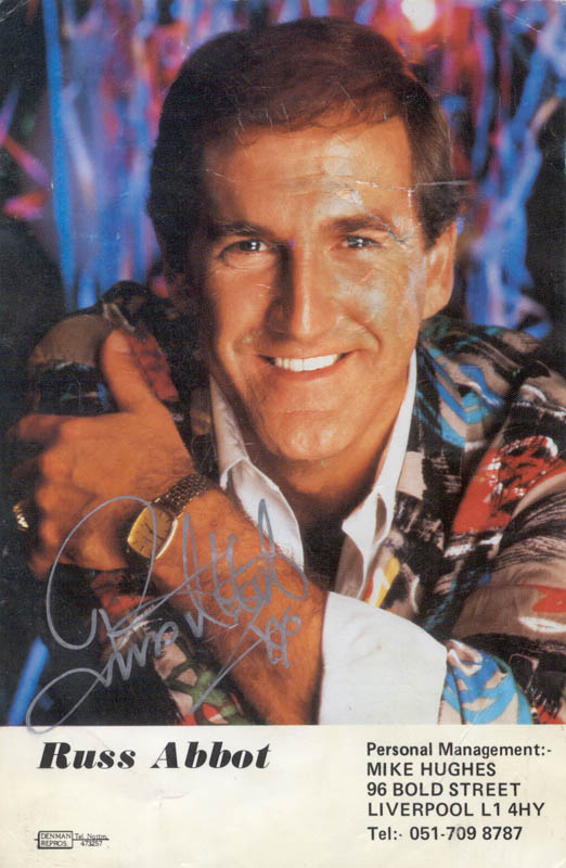 Image 1 for Russ Abbot - Autographed Signed Photograph - HFSID 146220