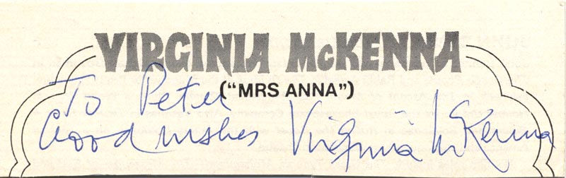 Image 1 for Virginia Mckenna - Autograph Note Signed - HFSID 146242