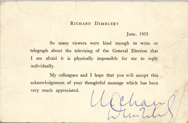 Image 1 for Richard Dimbleby - Typed Letter Signed 06/1955 - HFSID 146286