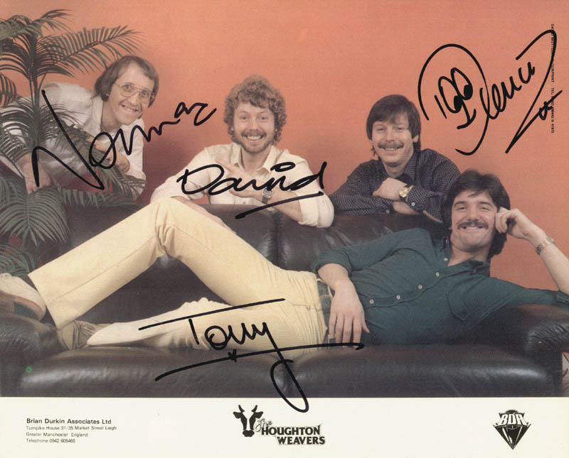 Image 1 for The Houghton Weavers - Autographed Signed Photograph co-signed by: David Littler, Tony Berry, Dennis Littler, Norman Prince - HFSID 146327