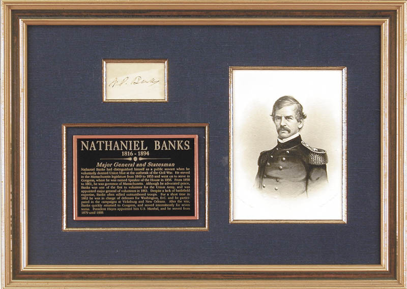 Image 1 for Major General Nathaniel P. Banks - Autograph - HFSID 146456
