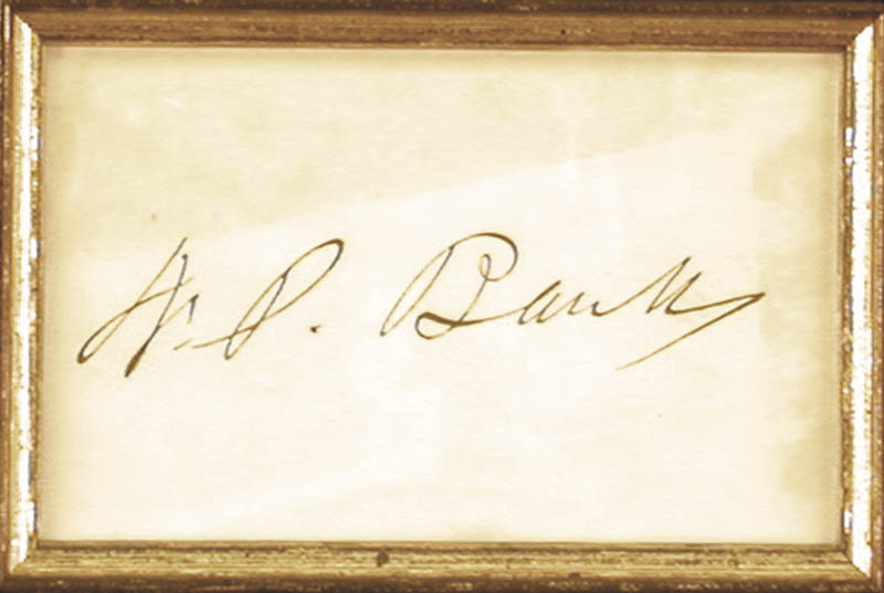 Image 3 for Major General Nathaniel P. Banks - Autograph - HFSID 146456