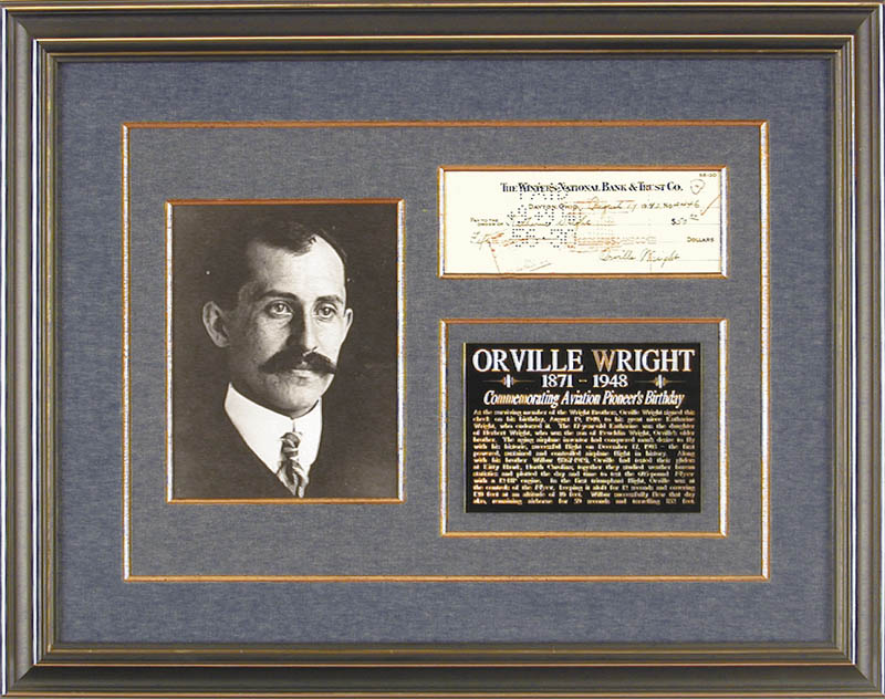 Image 1 for Orville Wright - Autographed Signed Check 08/19/1940 co-signed by: Katharine (Niece) Wright - HFSID 14652