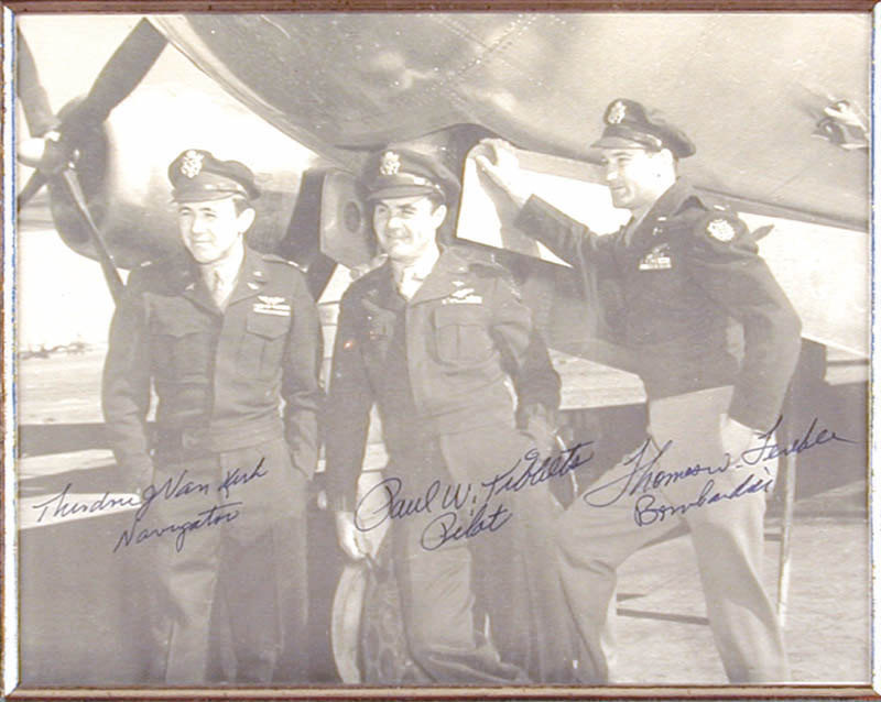 Image 3 for Enola Gay Crew (Paul W. Tibbets) - Autographed Signed Photograph with co-signers - HFSID 146629