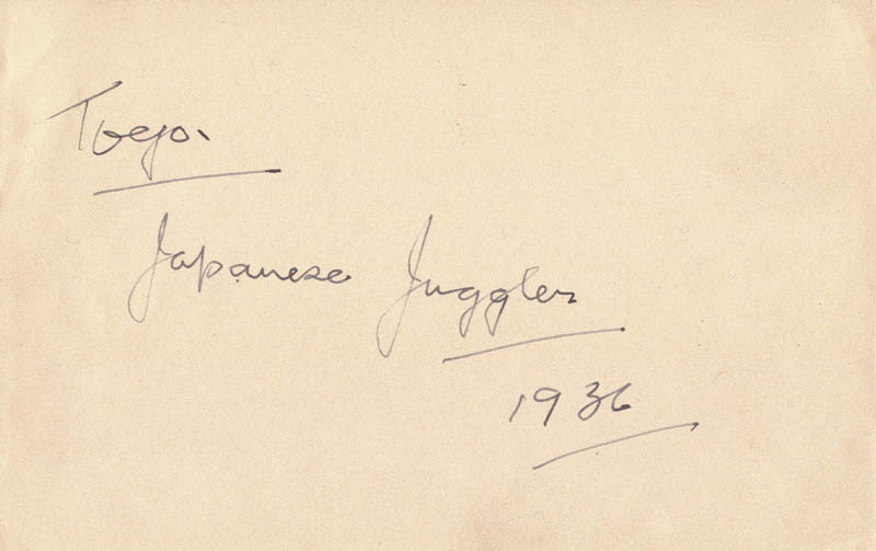 Image 3 for Sandy Powell - Autograph Sentiment Signed Circa 1936 co-signed by: Toyo - HFSID 146739