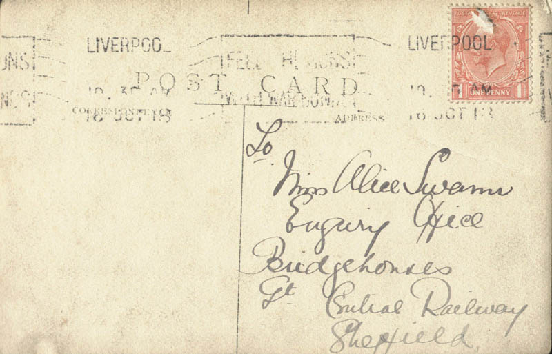 Image 3 for Whit Cunliffe - Picture Post Card Signed Circa 1918 - HFSID 146833