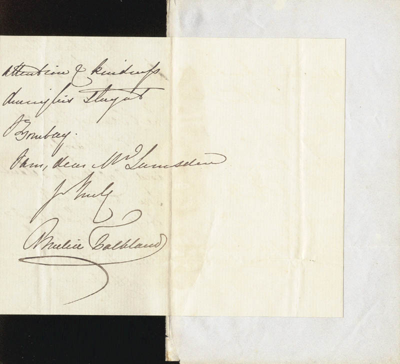 Image 1 for Viscountess Falkland (Amelia Cary) - Autograph Letter Signed 06/24 - HFSID 146882