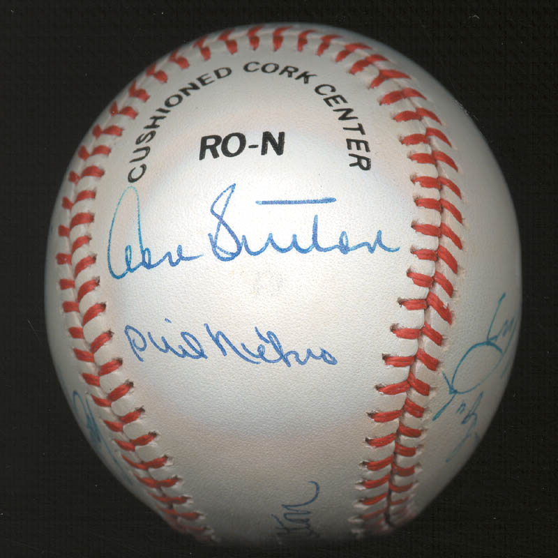Image 4 for 300+ Career Wins - Autographed Signed Baseball with co-signers - HFSID 146952