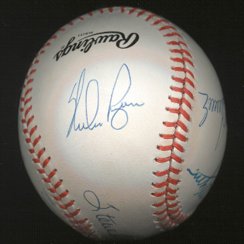 Image 5 for 300+ Career Wins - Autographed Signed Baseball with co-signers - HFSID 146952