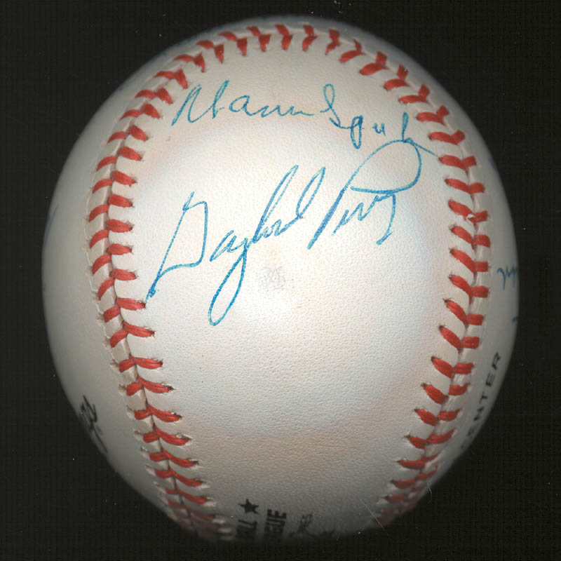 Image 7 for 300+ Career Wins - Autographed Signed Baseball with co-signers - HFSID 146952