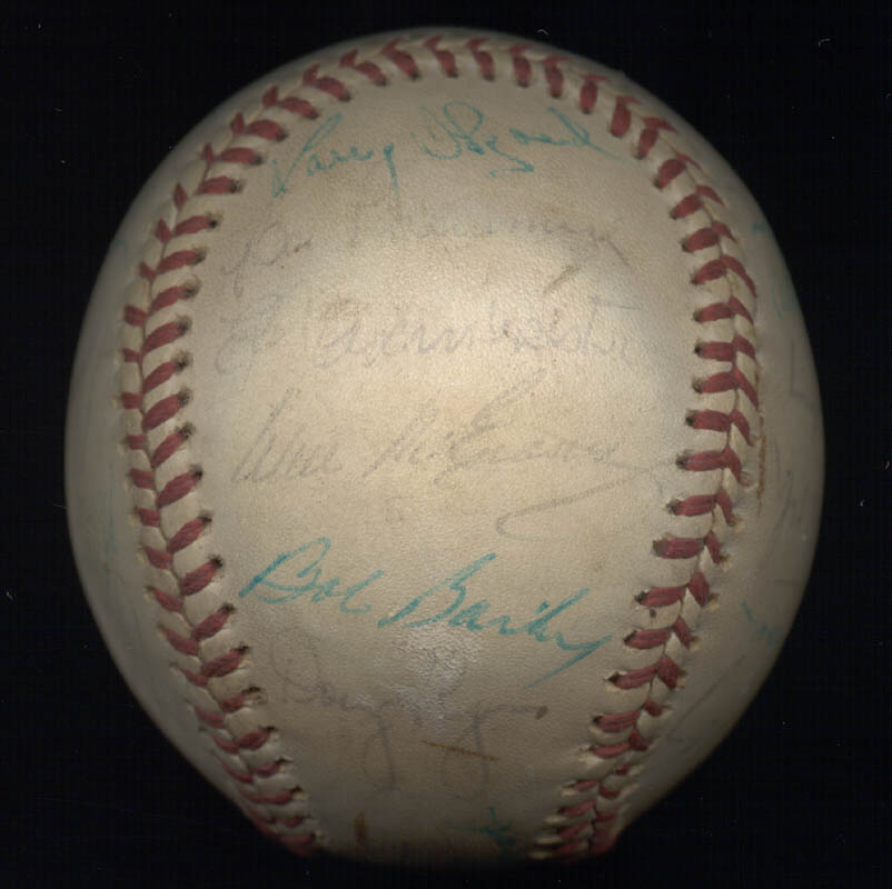 Image 4 for Cincinnati Reds - Autographed Signed Baseball with co-signers - HFSID 147237