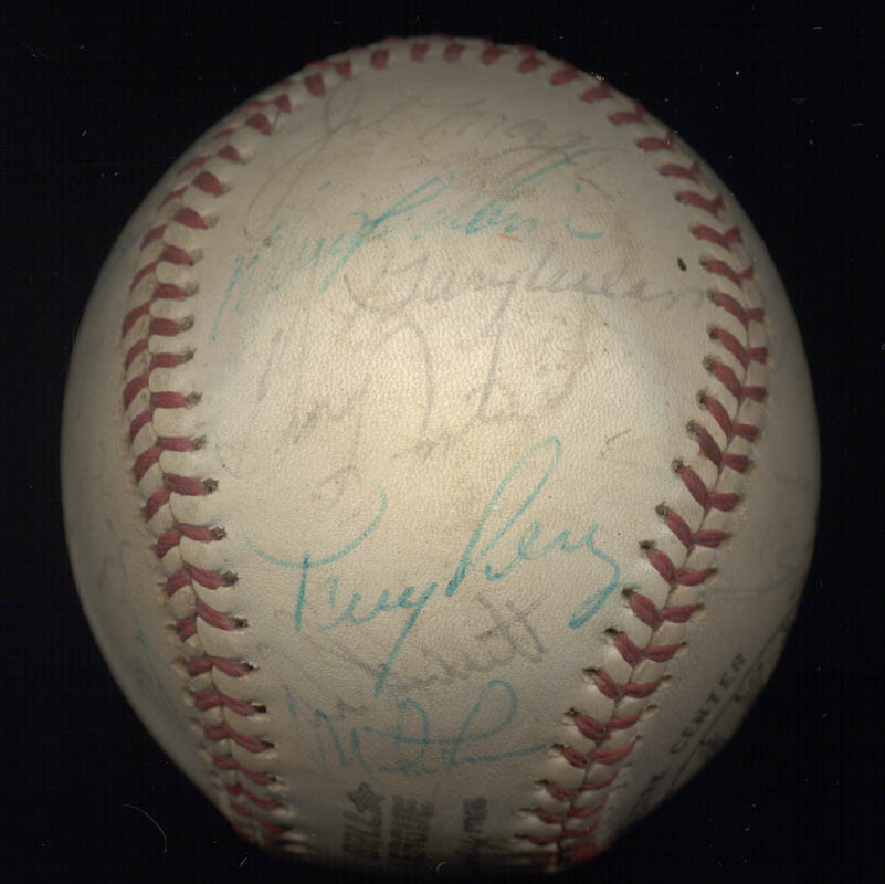 Image 5 for Cincinnati Reds - Autographed Signed Baseball with co-signers - HFSID 147237