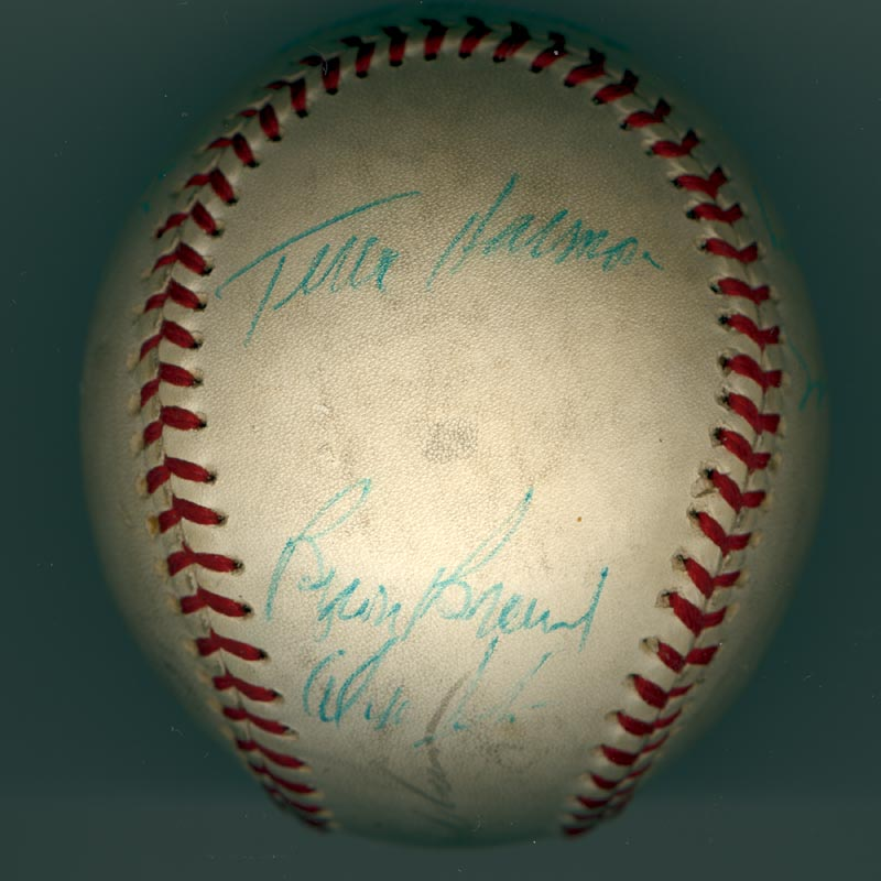 Image 3 for The Philadelphia Phillies - Autographed Signed Baseball Circa 1971 with co-signers - HFSID 147328