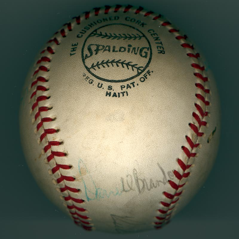 Image 4 for The Philadelphia Phillies - Autographed Signed Baseball Circa 1971 with co-signers - HFSID 147328