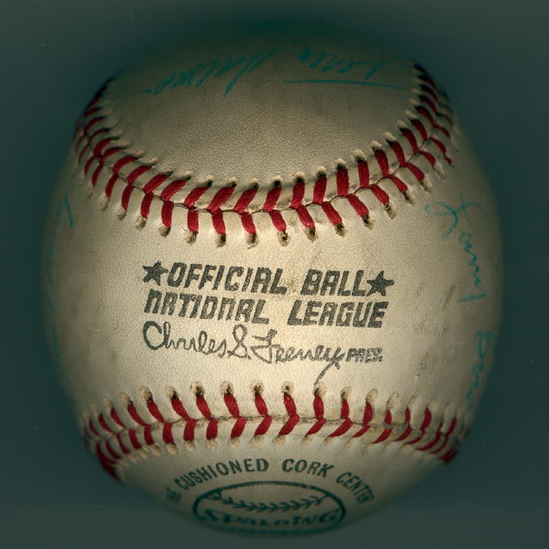 Image 7 for The Philadelphia Phillies - Autographed Signed Baseball Circa 1971 with co-signers - HFSID 147328