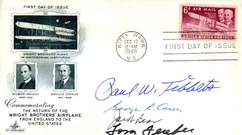 Image 1 for Enola Gay Crew - First Day Cover Signed with co-signers - HFSID 147364
