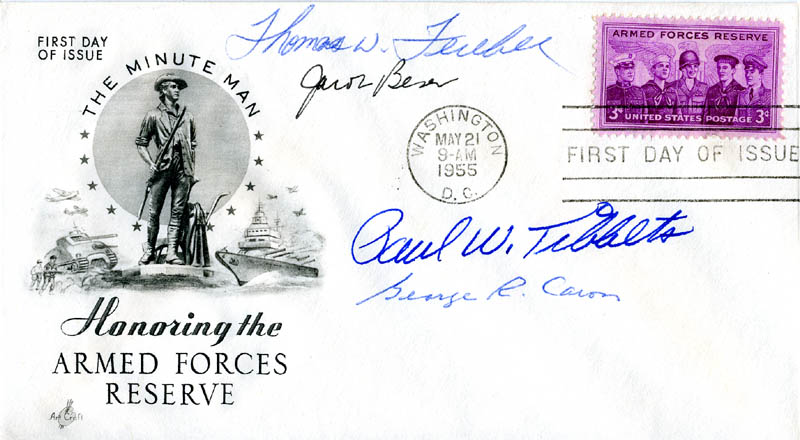Image 1 for Enola Gay Crew - First Day Cover Signed with co-signers - HFSID 147365