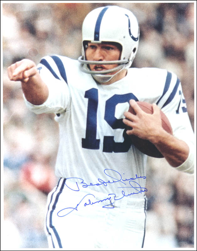 Image 1 for Johnny Unitas - Autographed Signed Photograph - HFSID 147453