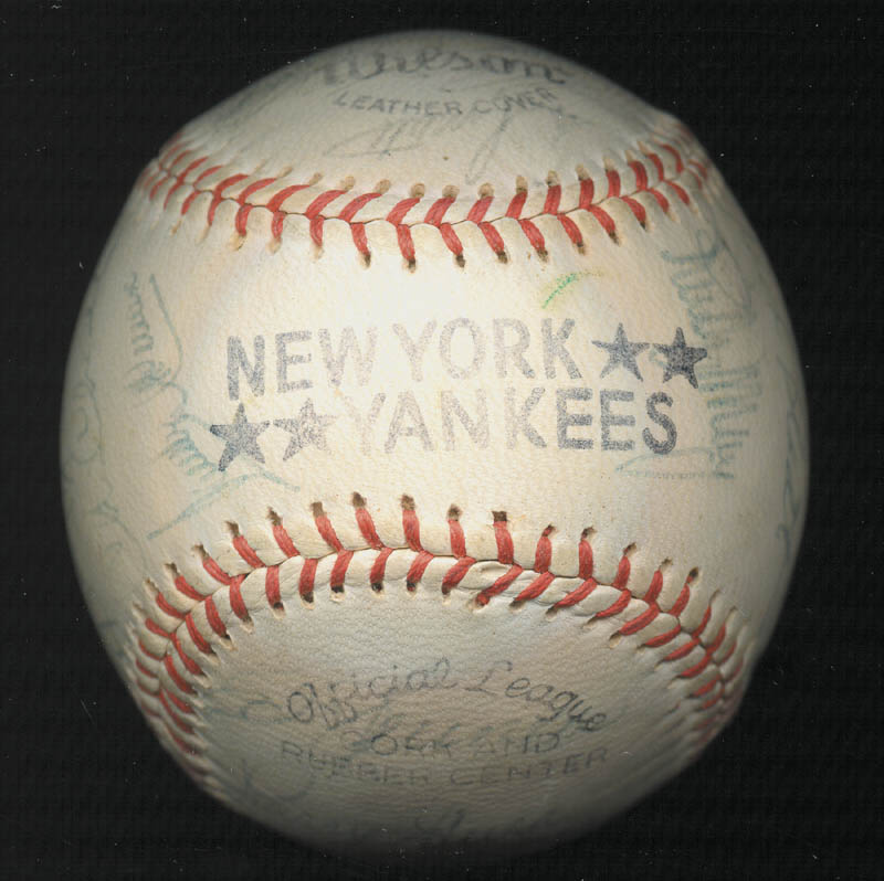 Image 7 for The New York Yankees - Autographed Signed Baseball Circa 1975 with co-signers - HFSID 147727