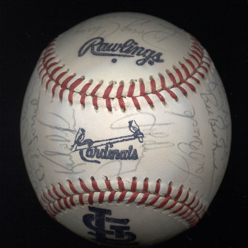 Image 7 for The St. Louis Cardinals - Autographed Signed Baseball with co-signers - HFSID 147728