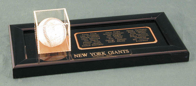 Image 1 for The New York Giants - Autographed Signed Baseball Circa 1950 with co-signers - HFSID 147729