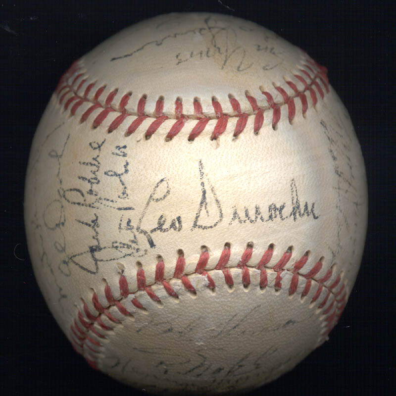 Image 3 for The New York Giants - Autographed Signed Baseball Circa 1950 with co-signers - HFSID 147729