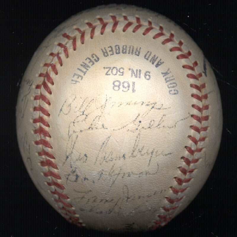 Image 4 for The New York Giants - Autographed Signed Baseball Circa 1950 with co-signers - HFSID 147729