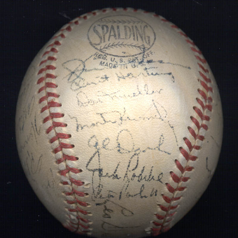 Image 5 for The New York Giants - Autographed Signed Baseball Circa 1950 with co-signers - HFSID 147729