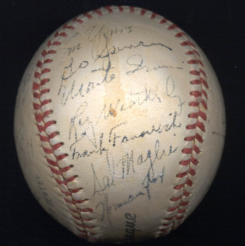 Image 6 for The New York Giants - Autographed Signed Baseball Circa 1950 with co-signers - HFSID 147729