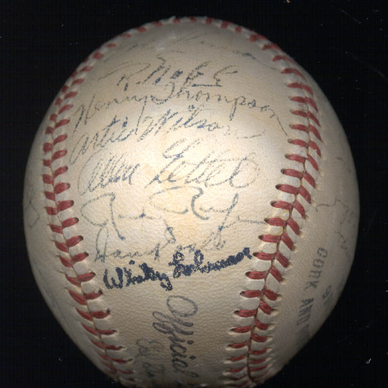 Image 7 for The New York Giants - Autographed Signed Baseball Circa 1950 with co-signers - HFSID 147729