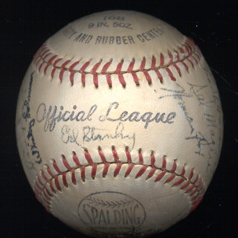 Image 8 for The New York Giants - Autographed Signed Baseball Circa 1950 with co-signers - HFSID 147729