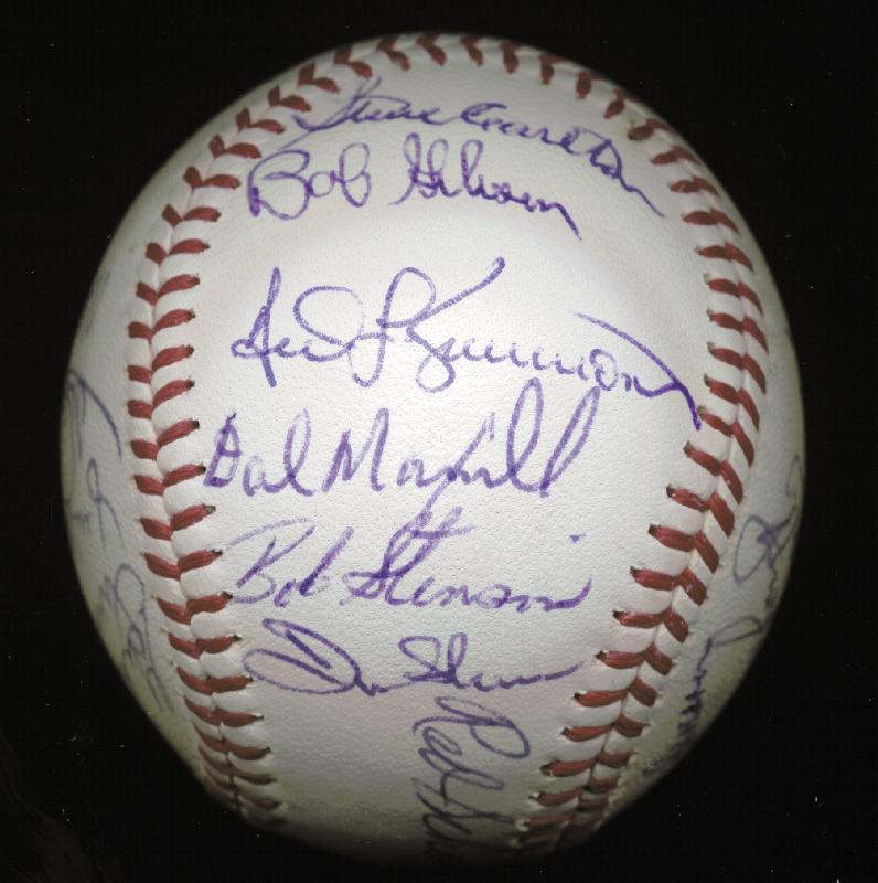 Image 2 for The St. Louis Cardinals - Autographed Signed Baseball Circa 1971 with co-signers - HFSID 147731