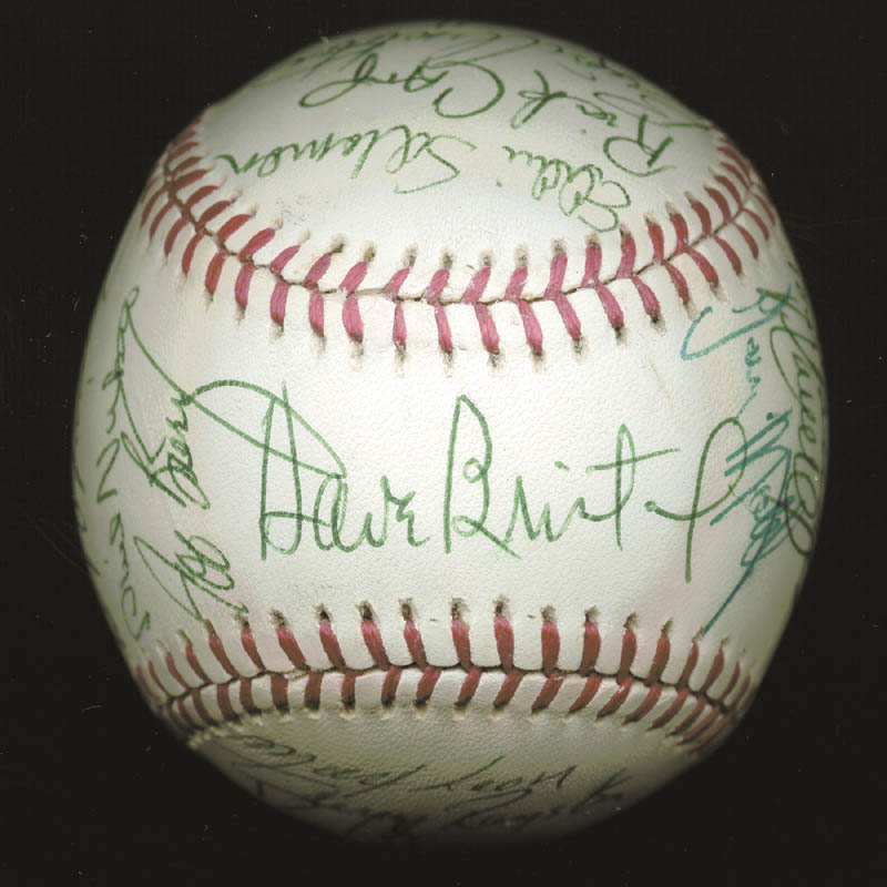 Image 1 for The Atlanta Braves - Autographed Signed Baseball Circa 1977 with co-signers - HFSID 147733