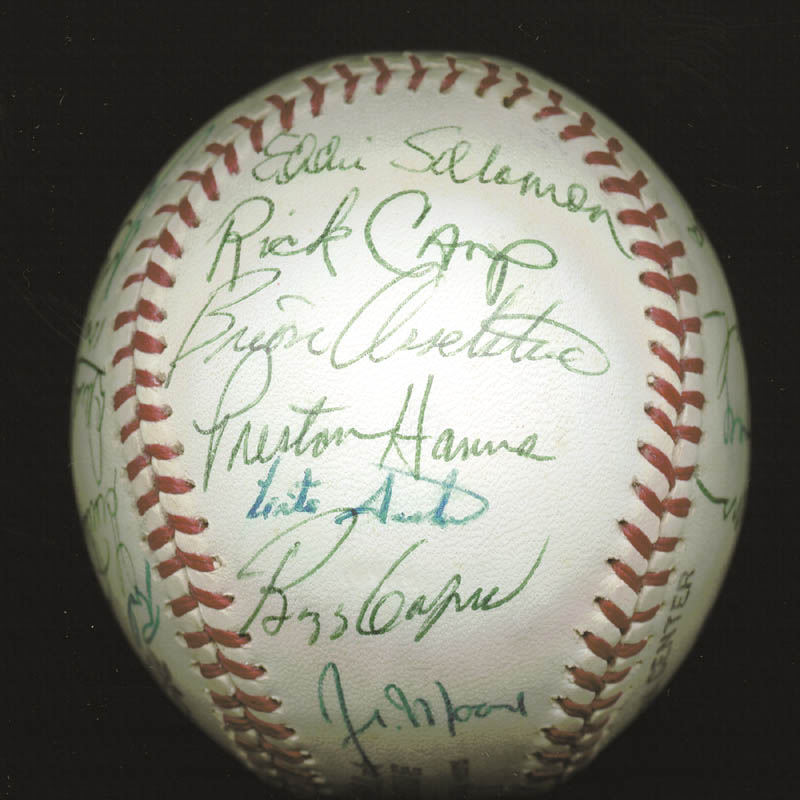 Image 4 for The Atlanta Braves - Autographed Signed Baseball Circa 1977 with co-signers - HFSID 147733