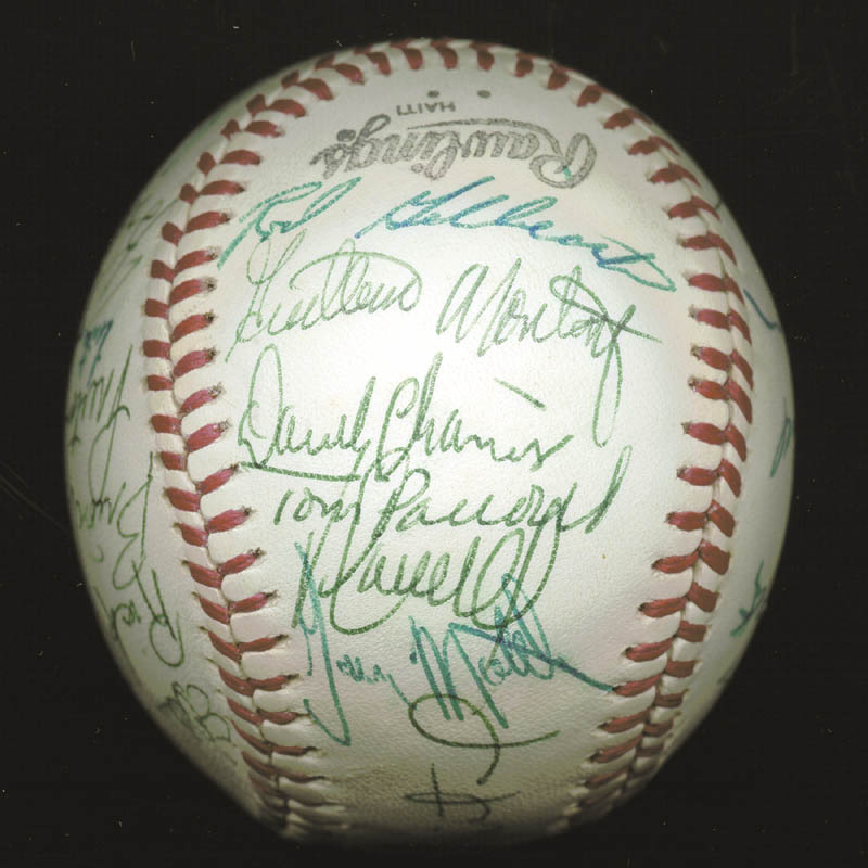 Image 6 for The Atlanta Braves - Autographed Signed Baseball Circa 1977 with co-signers - HFSID 147733
