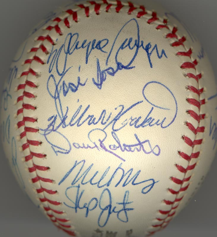 Image 3 for The Houston Astros - Autographed Signed Baseball Circa 1975 with co-signers - HFSID 147748