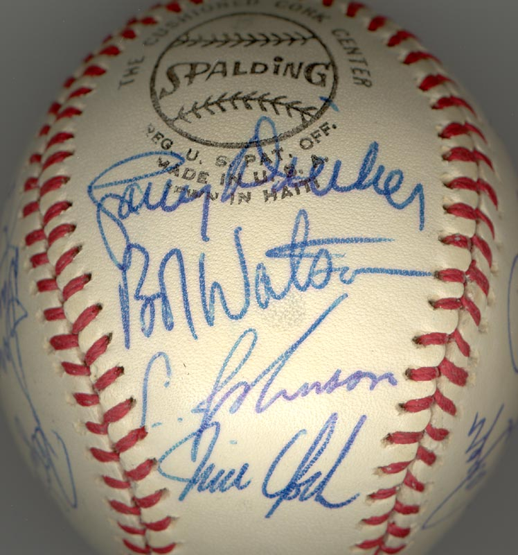 Image 6 for The Houston Astros - Autographed Signed Baseball Circa 1975 with co-signers - HFSID 147748