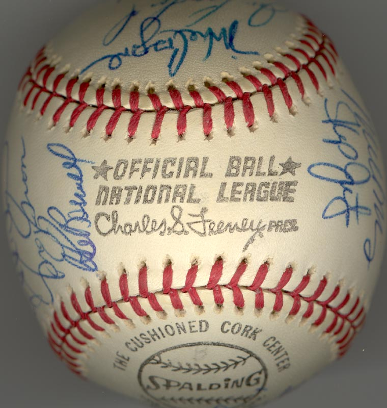 Image 7 for The Houston Astros - Autographed Signed Baseball Circa 1975 with co-signers - HFSID 147748