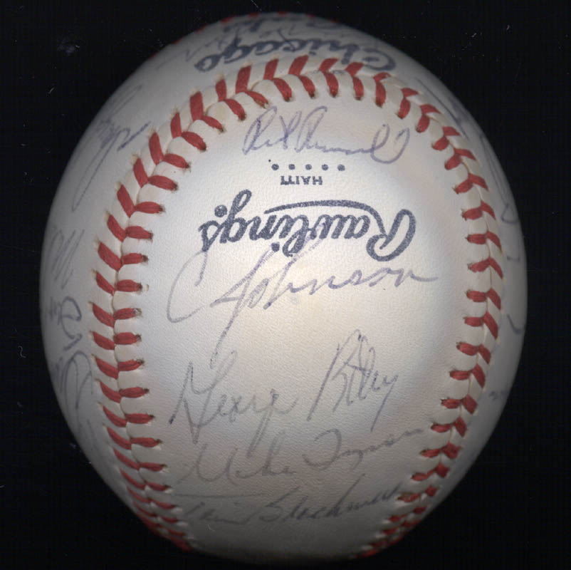 Image 4 for The Chicago Cubs - Autographed Signed Baseball with co-signers - HFSID 147751