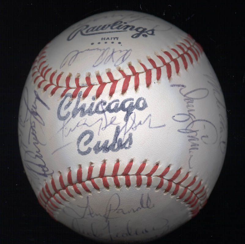 Image 7 for The Chicago Cubs - Autographed Signed Baseball with co-signers - HFSID 147751