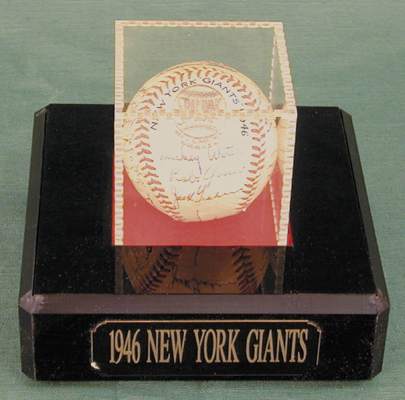 Image 1 for The New York Giants - Autographed Signed Baseball Circa 1946 with co-signers - HFSID 147755